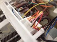 自動お掃除機能付きエアコンクリーニング 分解中