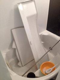 浴室クリーニング エプロン分解