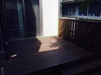 ウッドデッキ防虫防腐ステイン塗装 塗装作業完了