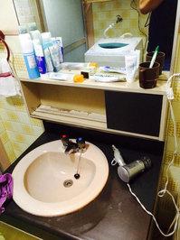 在宅戸建て4LDKまるごとおそうじ 洗面所リーニング 作業完了