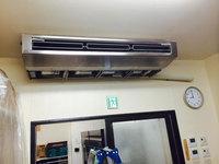 店舗業務用エアコンクリーニング 厨房大型天吊1方向タイプ2