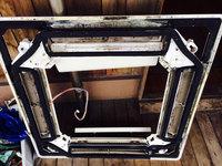 店舗業務用エアコンクリーニング 天カセ4方向エアコン 分解 化粧パネル 裏 カビ汚れ1