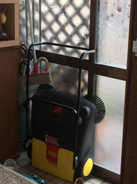 マンション共有部定期清掃 火山灰とゴミの除去