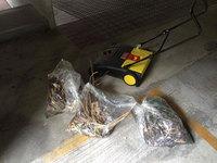 マンション共有部定期清掃 回収した火山灰とゴミ