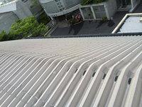 高所雨樋草・灰除去作業 屋根勾配 左側