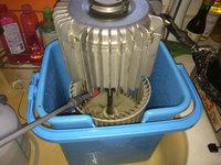 家庭用天井埋め込み型エアコン クリーニング シロッコファン洗浄