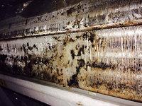 家庭用エアコンクリーニング カビ除去作業