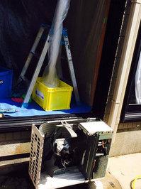 家庭用エアコンクリーニング 室外機分解