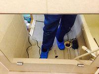 浴室鏡水垢除去完了