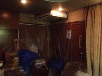病院 業務用天吊り1方向エアコンクリーニング 養生作業 鹿児島市内