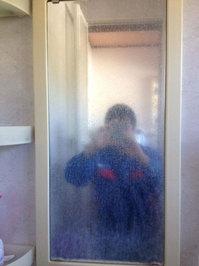 浴室鏡の水垢取りサービス 鹿児島県日置市 作業前