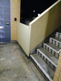 5階建てマンション共有部清掃 階段・廊下の灰除去と水流し 鹿児島市