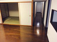 4LDKマンションまるごとおそうじパック フローリング洗浄ワックス 作業完了 リビングと廊下 鹿児島市