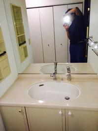 4LDKマンションまるごとおそうじパック 洗面所クリーニング 鹿児島市