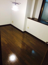 4LDKマンションまるごとおそうじパック フローリング洗浄ワックス 作業完了 小部屋2 鹿児島市