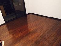4LDKマンションまるごとおそうじパック フローリング洗浄ワックス 作業完了 小部屋1 鹿児島市