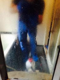 浴室周りクリーニング 汚れハードクラス 鏡水垢 鹿児島市