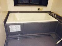 浴室周りクリーニング 汚れハードクラス 浴槽周りカビ、水垢汚れ除去完了 鹿児島市