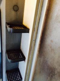 浴室周りクリーニング 汚れハードクラス ドア周辺カビ、水垢 鹿児島市