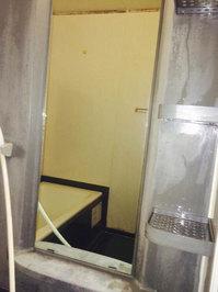 浴室周りクリーニング 汚れハードクラス 鏡水垢除去完了 鹿児島市