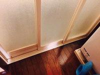 浴室周りクリーニング 汚れハードクラス ドア周りカビ、水垢汚れ除去完了 鹿児島市