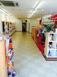美容室店舗ワックスと業務用エアコンクリーニング 床洗浄&ワックス作業前 鹿児島市