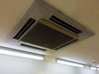 美容室店舗ワックスと業務用エアコンクリーニング 4方向天カセタイプ 鹿児島市