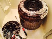 洗濯槽クリーニング 東芝DDインバーター 黒カビクリーニング中 鹿児島市東谷山方面
