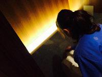 竣工美装 トイレ間接照明美装 鹿児島市 島津重富荘