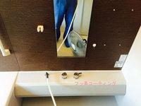 浴室クリーニングとフッ素コーティング(棚周り)