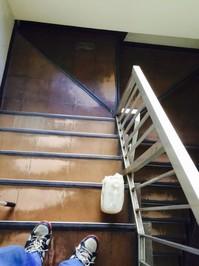 5階建てマンション 定期ワックス 内階段 鹿児島市