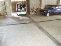 5階建てマンション 定期清掃 駐車場の灰除去 鹿児島市