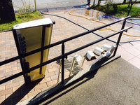 店舗業務用エアコンクリーニング 部品洗浄完了 鹿児島市谷山方面