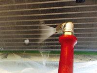店舗業務用エアコンクリーニング 熱交換器洗浄作業中 鹿児島市谷山方面