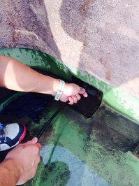 マンション 排水管 灰詰まり洗浄 作業中 鹿児島市