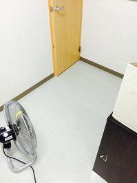 店舗フロア洗浄ワックスサービス トイレ前 作業完了 ネイルサロン 鹿児島市永吉方面