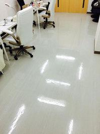店舗フロア洗浄ワックスサービス 作業完了 ネイルサロン 鹿児島市永吉方面