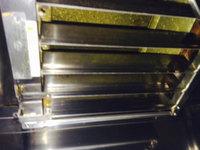 縄文の森レストラン様 退去時厨房清掃クリーニング 作業完了業務用レンジフードの防火ダンパー  鹿児島県霧島市 おそうじ本舗鹿児島西田店