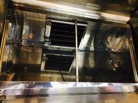 縄文の森レストラン様 退去時厨房清掃クリーニング 作業完了業務用レンジフードと防火ダンパー②  鹿児島県霧島市 おそうじ本舗鹿児島西田店