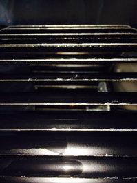 家庭用レンジフードとエアコン清掃クリーニング レンジフードシロッコファンの洗浄作業完了 羽の確認 戸建10年物 鹿児島市郡山方面 おそうじ本舗鹿児島西田店