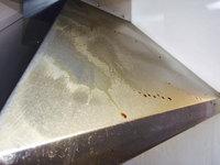 キッチン周り、浴室他清掃クリーニング レンジフードの油汚れ 分譲マンション 鹿児島市小松原方面