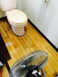 大掃除!戸建丸ごとハウスクリーニングとゴミ処分、キッチンシンク準鏡面仕上げ 「フローリングワックス トイレ 作業後」 鹿児島市吉野町 おそうじ本舗鹿児島西田店