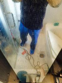 浴室清掃クリーニングのセット 鹿児島市谷山方面 鏡の水垢 おそうじ本舗鹿児島西田店