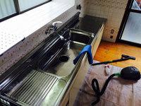 (キッチンの作業完了)戸建まるごと4ldk、キッチン鏡面仕上げ、キッチン収納部害虫処理仕上げ 鹿児島県日置市方面 おそうじ本舗鹿児島西田店