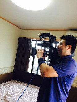 2015年5月KYT鹿児島読売テレビ番組「かごピタ」撮影・出演 二十アゴが素敵な私 おそうじ本舗鹿児島西田店