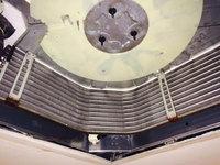 店舗・業務用エアコンクリーニング ホテル内レストラン お得意様 鹿児島市天文館方面 業務用エアコンクリーニング 熱交換器の洗浄完了