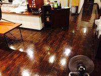 店舗・業務用エアコンクリーニング ホテル内レストラン お得意様 鹿児島市天文館方面 フロア洗浄ワックス完了3