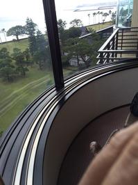 指宿老舗ホテル様 窓清掃 ホテル高所外窓① おそうじ本舗鹿児島西田店