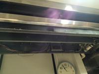 老舗パン屋グループ バームクーヘン 吉野店 店舗定期清掃 業務用エアコン 窓清掃 鹿児島市内 厨房業務用エアコン洗浄前分解作業完了