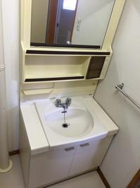 社宅 退去時2dkまるごとクリーニングパックサービス 鹿児島市内 洗面所クリーニング完了